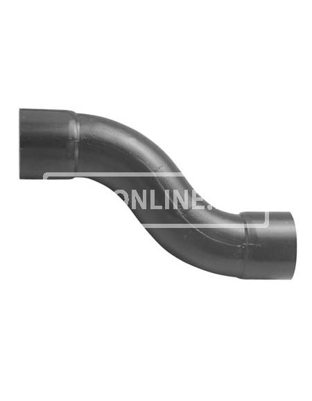 PVC HANDVORM S-BOCHT 40 MM PN 10 HART OP HART 60MM