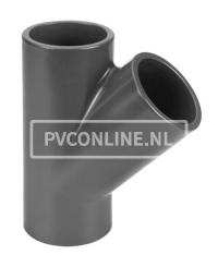 PVC T-STUK 75 X 75 X 75 45* PN 10
