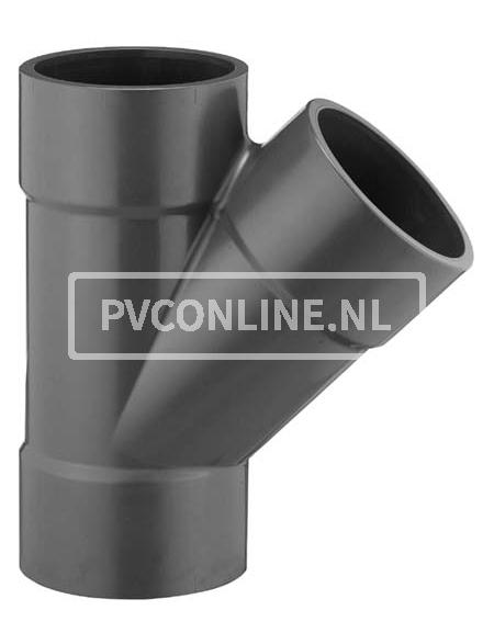 PVC T-STUK 225X225 X225 45* PN 6