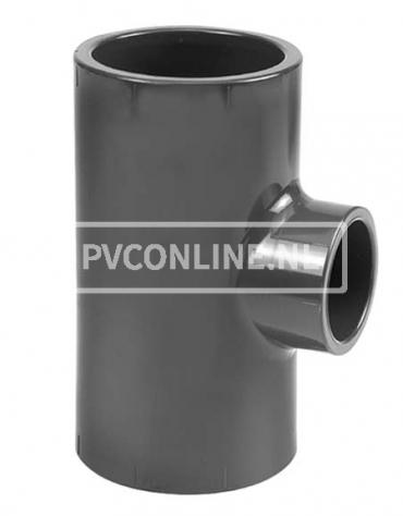 PVC T-STUK 75 X 50 X 75 90* PN 16