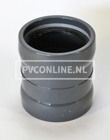 PVC OVERSCHUIF/STEEKMOF 250 PN 10