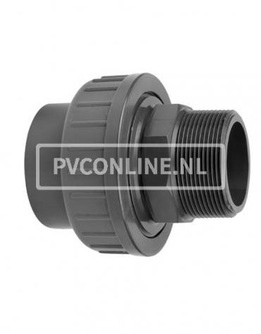 PVC KOPPELING 63 X 2 BUITENDRAAD PN16