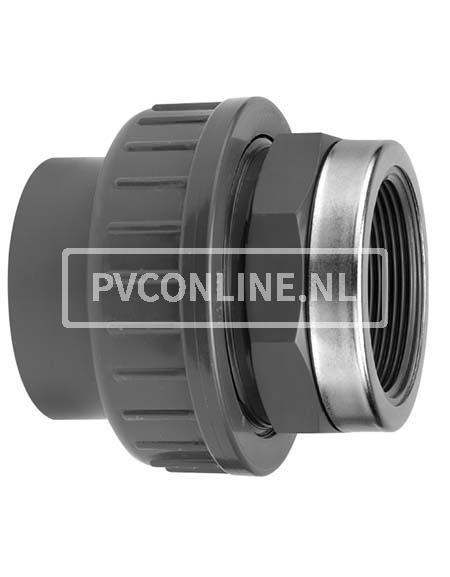 PVC KOPPELING 32 X 1 BINNENDRAAD PN 16