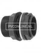PVC HD DOORVOER 32 x 1 1/4 x 1 1/4 *VDL* TYPE B