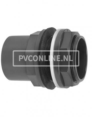 PVC HD DOORVOER 50/63 x 2 *VDL* TYPE A