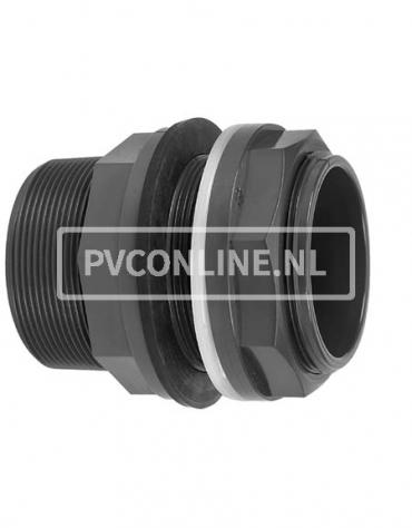 PVC HD DOORVOER 63 x 2 1/2 x 2 1/2 *VDL* TYPE B