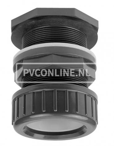 PVC DOORVOER 32 KLEM X 1 1/4