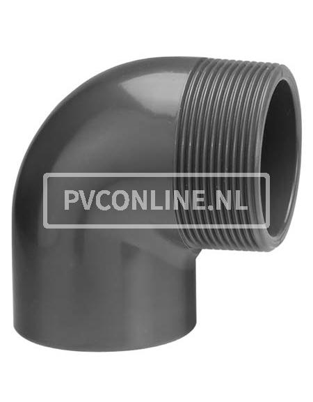 PVC KNIE 40 X1 1/4 BUITENDRAAD PN 10