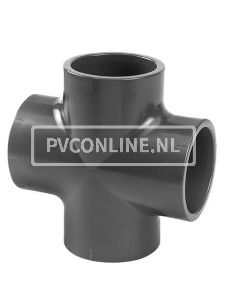PVC KRUISSTUK 75X 75X 75X 75 PN 10