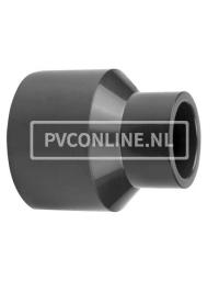 PVC INZETVERLOOPSOK 140/125X110 PN16