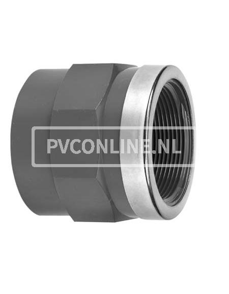 PVC DRAADSOK 32X 1/2 PN 16