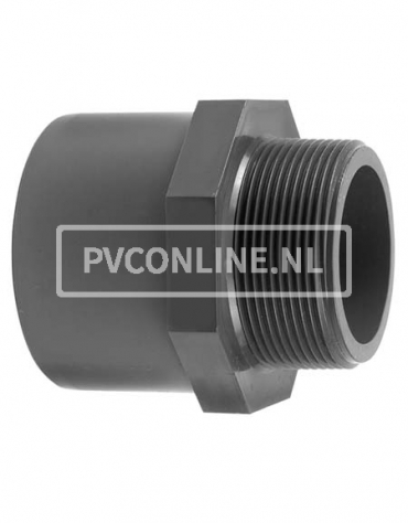 PVC DRAADEIND 50/63X1 1/2 PN 16