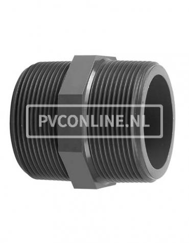 PVC DRAADNIPPEL 1/2 X 1/2 PN 16
