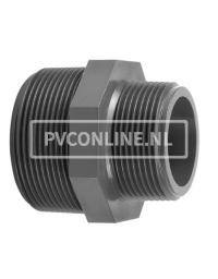 PVC DRAADNIPPEL 1 X 3/4 PN 16