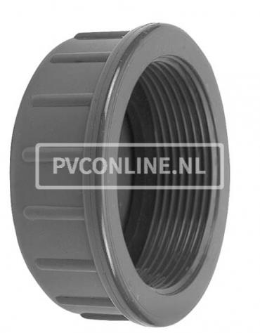 PVC DRAADKAP 1 1/2 PN 10