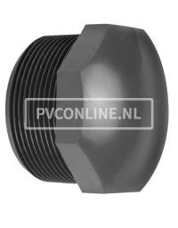 PVC DRAADSTOP 1/2 PN 16