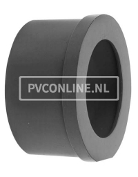 PVC INLEGSTUK SPUITGIETKOPPELING 40 X 2