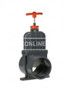 PVC HD SCHUIFAFSLUITER DUL 125 MM (RVS MES) *VDL*