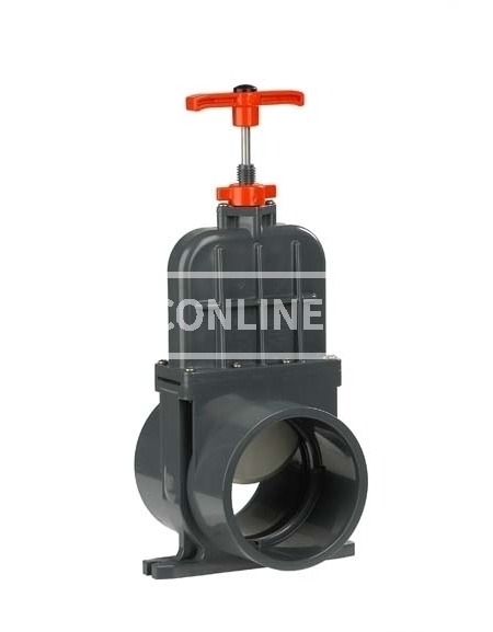 PVC HD SCHUIFAFSLUITER DIL 160 MM (RVS MES) *VDL*