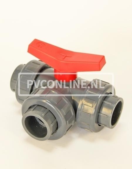 PVC DRIEWEGKOGELKRAAN 63X63X63 L-BORING