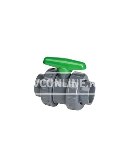 PVC KOGELKRAAN DIL 110X110 *VITON* GROENE HANDGREEP