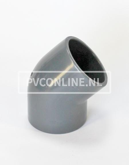 PVC HD KNIE 225 X 225 45o PN10 *ASTORE*