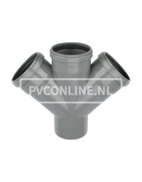 PVC DUBBEL T-STUK 3 X MA/S 125 45*