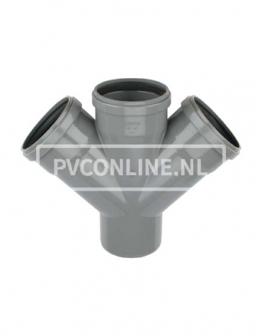 PVC DUBBEL T-STUK 3 X MA/S 160 45*