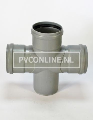 PVC DUBBEL T-STUK 3 X MA/S 125 90*