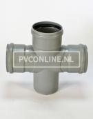 PVC DUBBEL T-STUK 3 X MA/S 160 90*