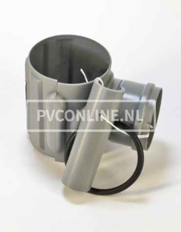 PVC KLEMAANSLUITSTUK 160 X 125