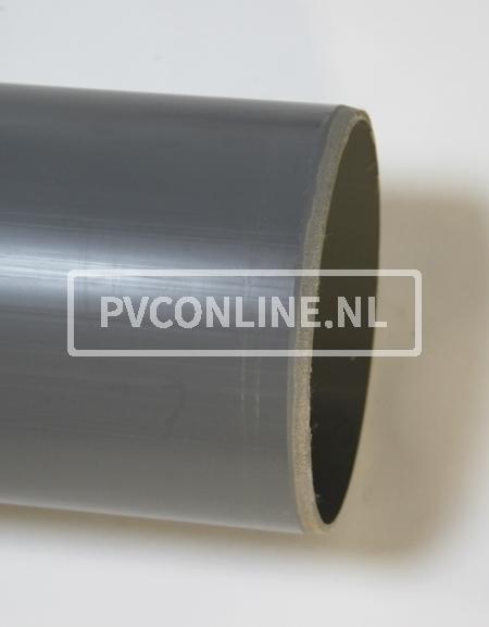 PVC HWA BUIS 70 GRIJS LGT 5.55 MTR