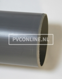 PVC HWA BUIS 80 GRIJS LGT 5.55 MTR