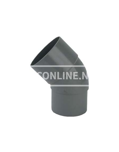 PVC BOCHT HWA M/VS 80 45*
