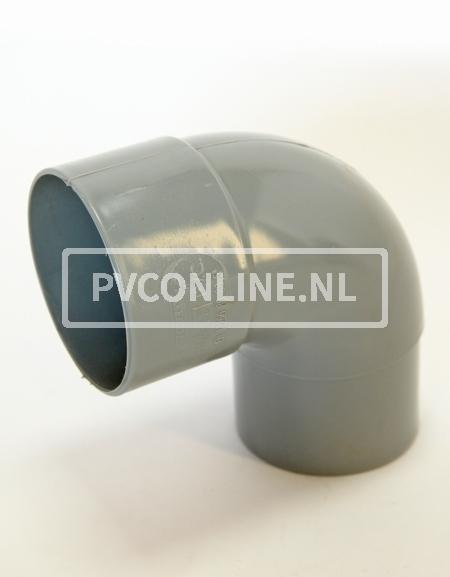 PVC BOCHT HWA M/VS 80 90*