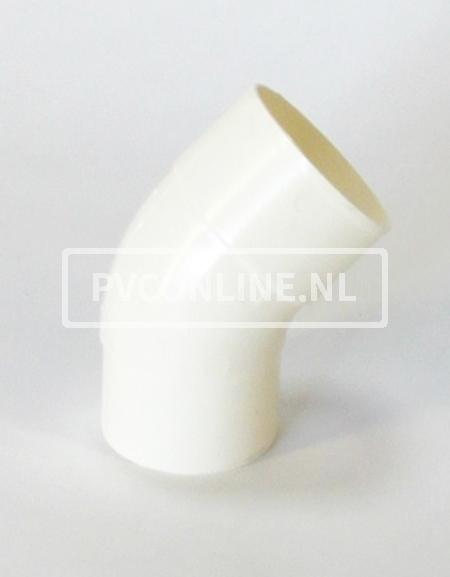 PVC BOCHT HWA M/VS 100 WIT 45*
