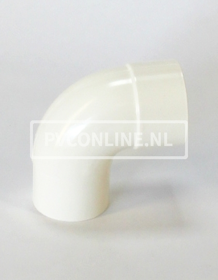 PVC BOCHT HWA M/VS 100 WIT 90*