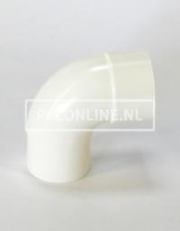 PVC BOCHT HWA M/VS 100 WIT 90*