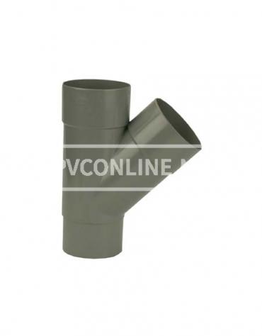 PVC T-STUK M/VS 100 45*