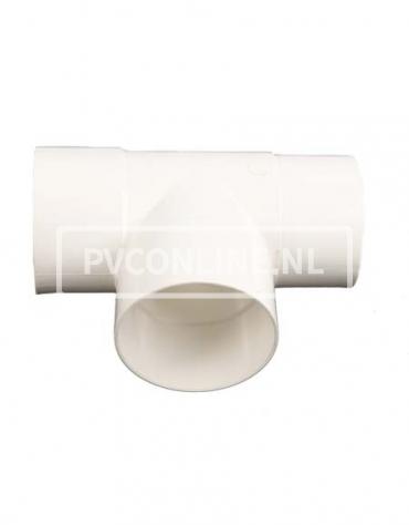 PVC T-STUK M/VS 100 WIT 90*
