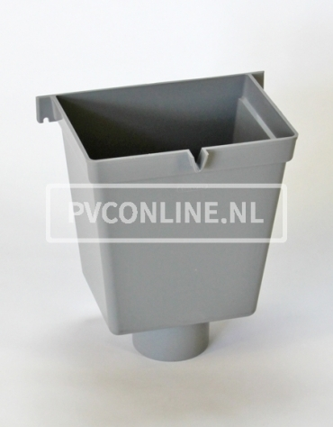 PVC VERGAARBAK 80 RECHTHOEK HOOG