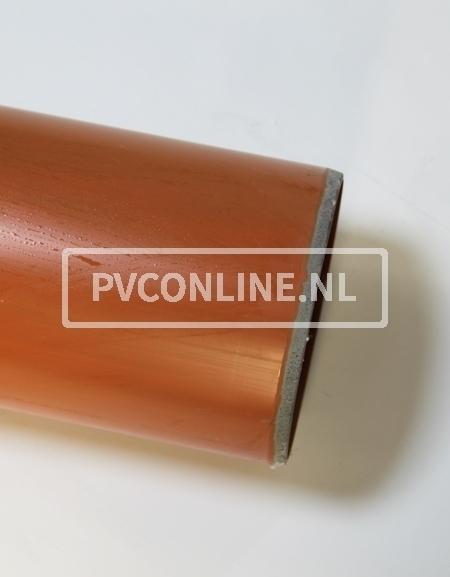 PVC AFVOERBUIS 125X 3.2 SN 4 BRUIN LGT 5 MTR