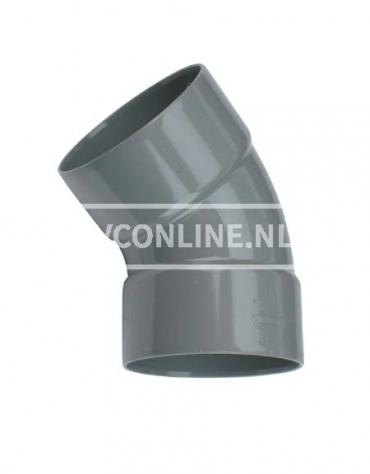 PVC BOCHT 2 X LM 75 45*