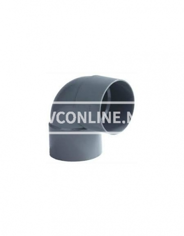 PVC BOCHT 2 X LM 75 90*