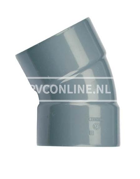 PVC BOCHT 2 X LM 125 30*