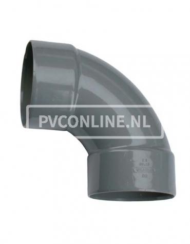 PVC BOCHT 2 X LM 125 90*