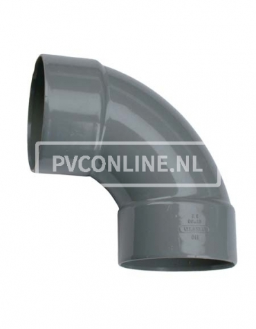 PVC BOCHT 2 X LM 160 90*
