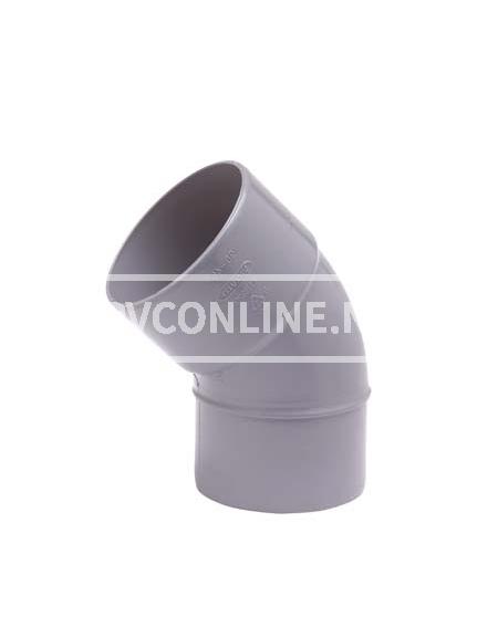 PVC BOCHT 1 X LM/S 75 45*