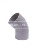 PVC BOCHT 1 X LM/S 90 45*
