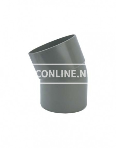 PVC BOCHT 1 X LM/S 125 22*